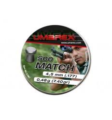 Plombs plat UMAREX Match 4.5 (x500)